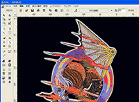 刺繍データ作成ソフト
